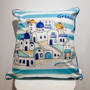 pillow with greek design
